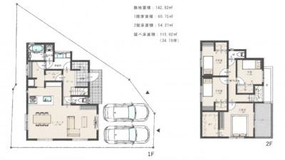 【区画図】上ヶ原十番町Ⅰ 売土地