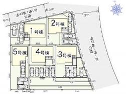 【区画図】伊勢崎市ひろせ町 1号棟