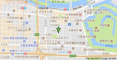 【地図】シャトー大手前