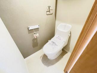 稲毛パークハウスD棟 清潔感のあるトイレです