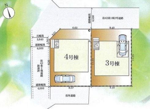【区画図】茅ヶ崎市浜之郷 3号棟