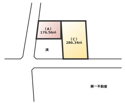 【区画図】西脇市高田井町字矢筈 売土地