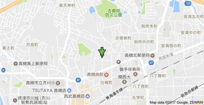 【地図】古曽部町貸家 (株)Roots