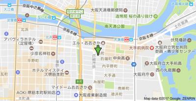 【地図】釣鐘町エクセルハイツ