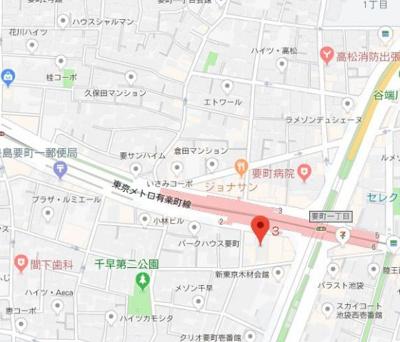 【地図】スカイコート池袋西弐番館