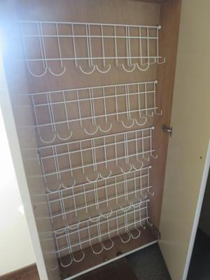 同間取り2階のお部屋のシューズボックス開放