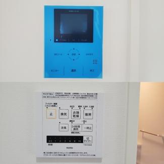 モニター付きインターホンと浴室乾燥機です
