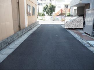 現地前面道路 幅員4.5m