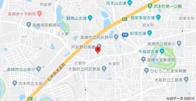 【地図】城第一マンション