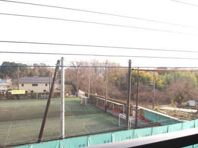 同間取り違う階のお部屋バルコニーからの眺望