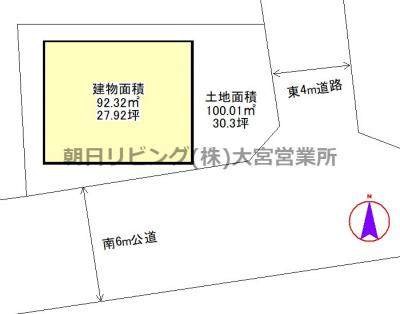 【区画図】西区中釘築浅戸建