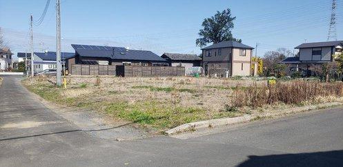 【前面道路含む現地写真】水戸市青柳町 売地 86坪