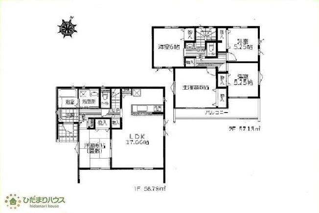 広々5LDKの間取りは、家族が増えても住み続けられるお家です♪