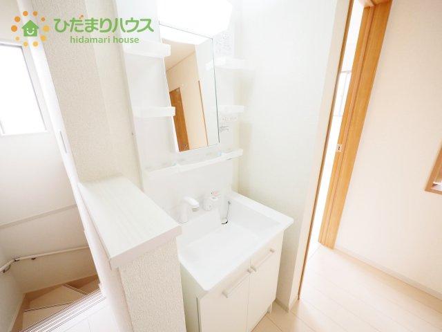 2階にも洗面台がついてて便利です♪