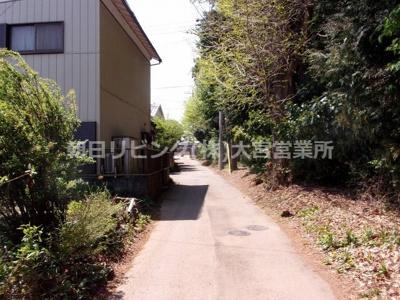 【前面道路含む現地写真】蓮田市黒浜土地