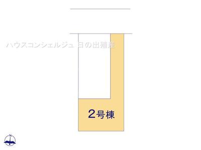 【区画図】名古屋市名東区延珠町808 【仲介手数料無料】新築一戸建て 2号棟