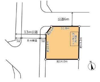 【区画図】建築条件無し・日高市武蔵台5丁目