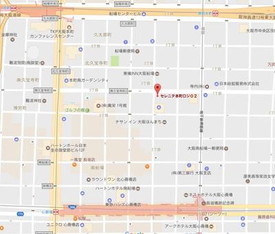 【地図】SERENITE本町 ROJI02