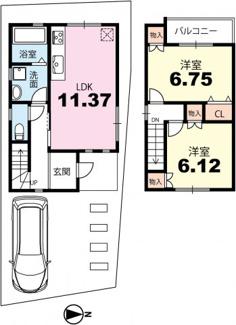 【土地図】浄土寺上南田町【鹿ケ谷通面す】 建築条件なし土地(上物有)