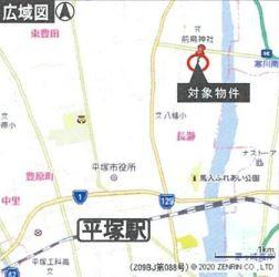 【地図】平塚市四之宮3丁目 工業地域 売地