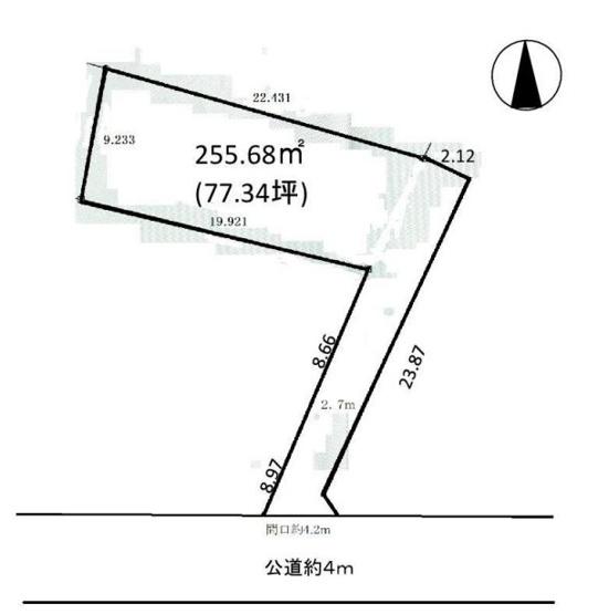 【土地図】茅ヶ崎市今宿 売地