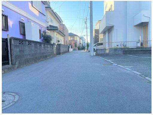 【前面道路含む現地写真】茅ヶ崎市今宿 売地