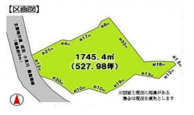 【区画図】成田市山之作 第一種住居 売地