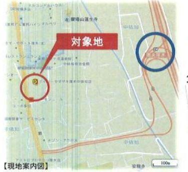 【地図】厚木市中依知 準工業地域 売地