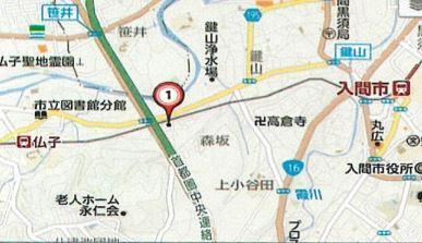 【地図】入間市牛沢町 第一種住居地域 売地