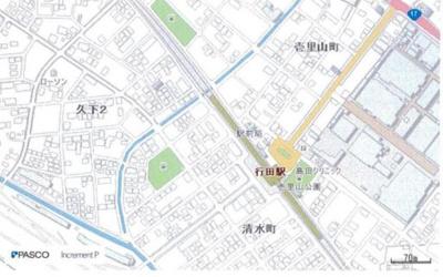 【地図】行田市清水町 第一種住居地域 売地