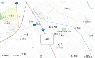 【地図】柏市十余二 売地