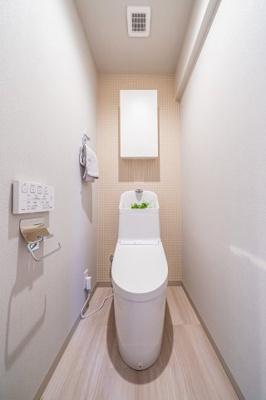 【トイレ】三井東陽ハイツ 専用庭付 リノベーション済