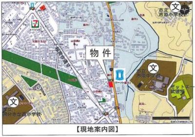 【地図】市原市藤井  約665坪 売地