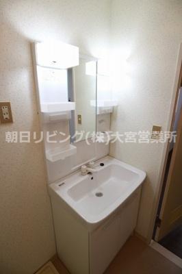 【洗面所】クリスタルマンション土呂