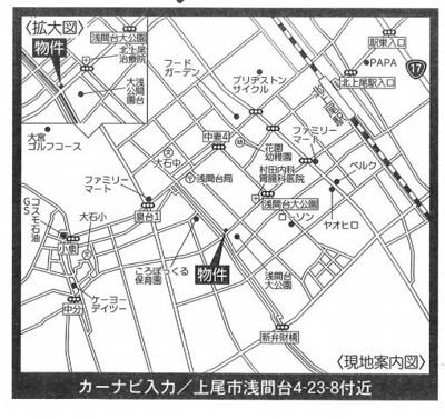 【地図】いろどりアイタウン 新築戸建 上尾市浅間台4丁目