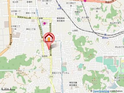 【地図】ウエストフィールドA・B棟