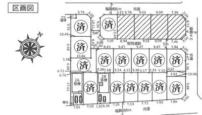 【区画図】ミライロ上尾・浅間台 未入居戸建 上尾市浅間台3丁目