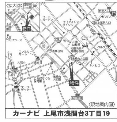 【地図】ミライロ上尾・浅間台 未入居戸建 上尾市浅間台3丁目