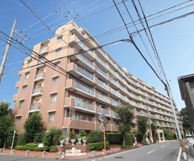 全棟戸数383戸のビッグコミュニティ。西武新宿線「武蔵関」駅まで徒歩圏内の立地です。