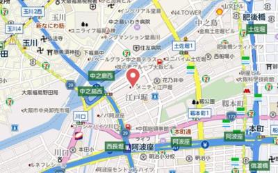 【地図】グランドメゾン江戸堀