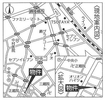 【地図】サニータウン 新築分譲戸建 蕨市中央6丁目