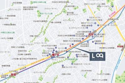 【地図】ログ初台