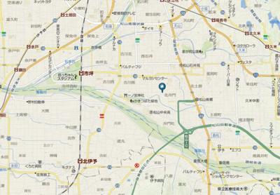 【地図】フレグランス橘・