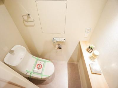 温水洗浄暖房便座付きトイレです。
