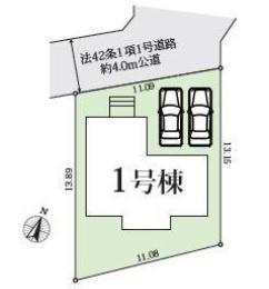 【区画図】新築戸建/川越市砂新田6丁目(全1棟)