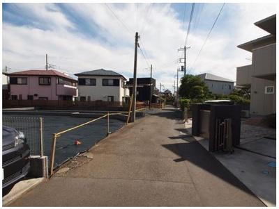 【前面道路含む現地写真】藤沢市鵠沼海岸2丁目 C区画