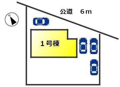 【区画図】東海市加木屋町三ツ池 新築分譲戸建