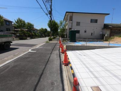 【前面道路含む現地写真】北五葉2丁目 新築戸建