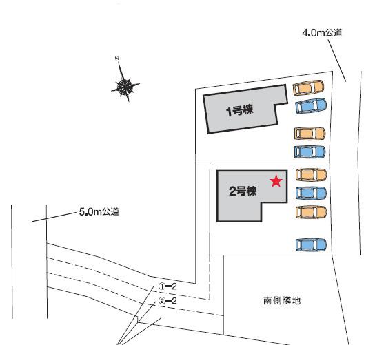【区画図】高崎市貝沢町 2号棟