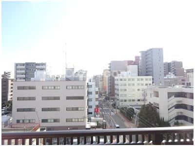 バルコニーからの眺めです。